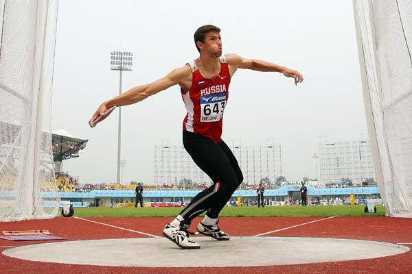 Arkadiy Vasilyev of Russia in the Discus Throw of the Decathlon (Getty Images)