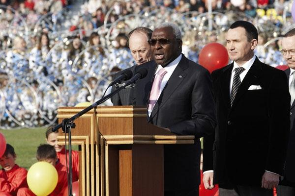 IAAF President Lamine Diack during the Opening Ceremony (Getty Images)