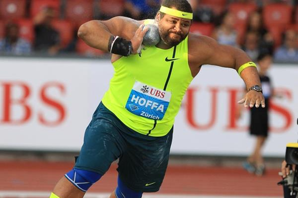 Reese Hoffa at the 2014 IAAF Diamond League final in Zurich (Jean-Pierre Durand)