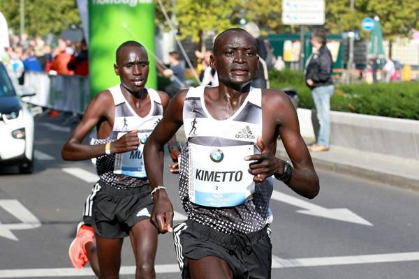 Dennis Kimetto at the 2014 BMW Berlin Marathon (organisers / www.photorun.net)
