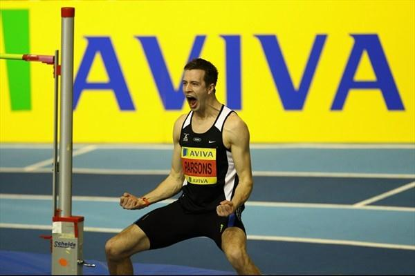 Tom Parsons after his 2.31 PB in Sheffield (Getty Images)