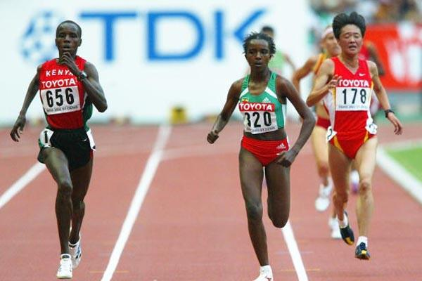 Edith Masai wins her 5000m heat (Getty Images)