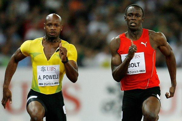 Asafa Powell and Usain Bolt in Zurich 2009 (Getty Images)