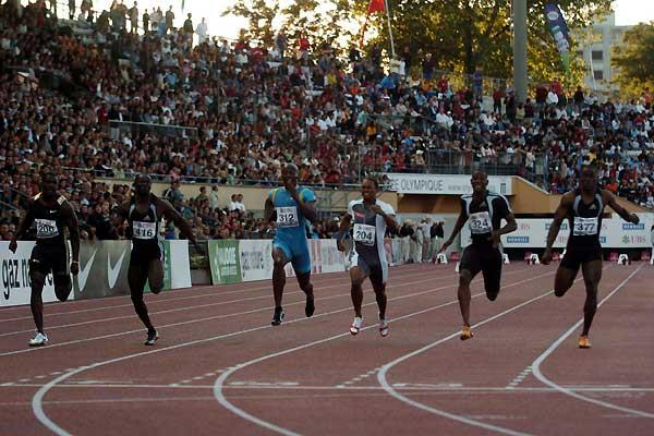 Ronald Pognon speeds to a 9.99 French record in the 100m - Lausanne (Hasse Sjögren)