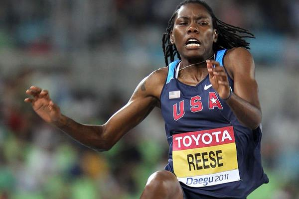 Defending champion Brittney Reese of the USA in the Long Jump at the 2011 World Championships in Daegu (Getty Images)