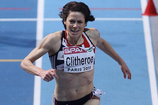Helen Clitheroe takes the European indoor 3000m title in Paris (Getty Images)
