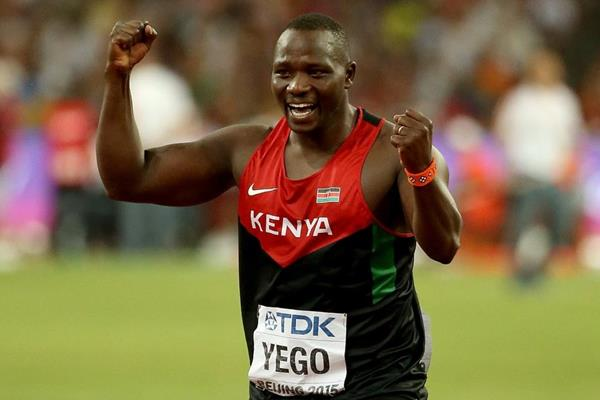 Julius Yego after winning the javelin at the IAAF World Championships, Beijing 2015 (Getty Images)