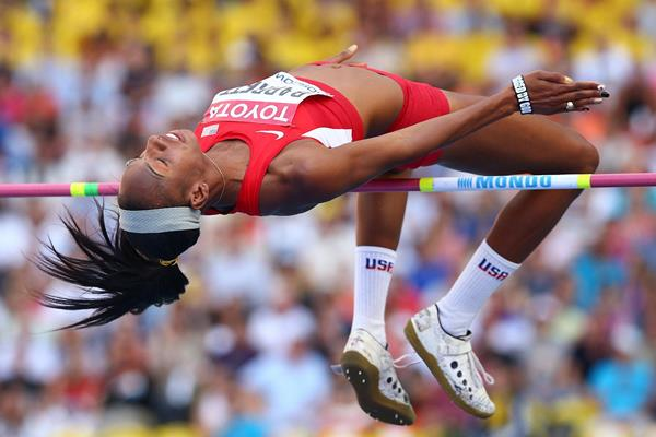 Brigetta Barrett in the womens High Jump Final at the IAAF World Athletics Championships Moscow 2013 (Getty Images)