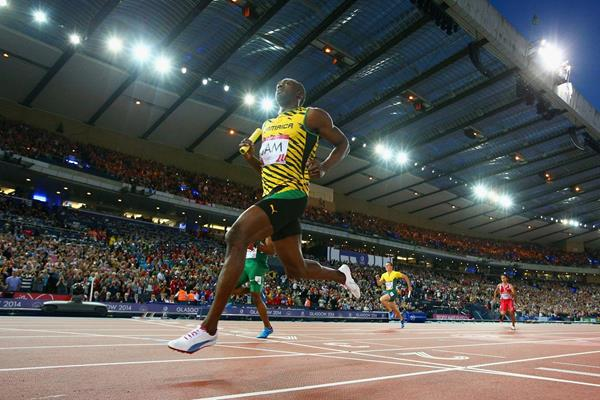 Usain Bolt at the 2014 Commonwealth Games (Getty Images)