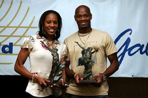 2006 World Athletes of the Year - Sanya Richards (USA) and Asafa Powell (JAM) (Getty Images)