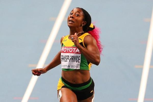 Shelly-Ann Fraser-Pryce in the womens 200m Final at the IAAF World Athletics Championships Moscow 2013 (Getty Images)