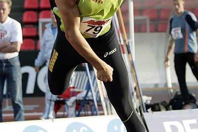 Tero Pitkämäki throws in Tampere (Paula Noronen)
