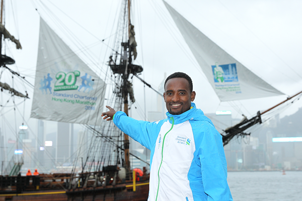 Feyera Gemeda ahead of the 2016 Hong Kong Marathon (Organisers)