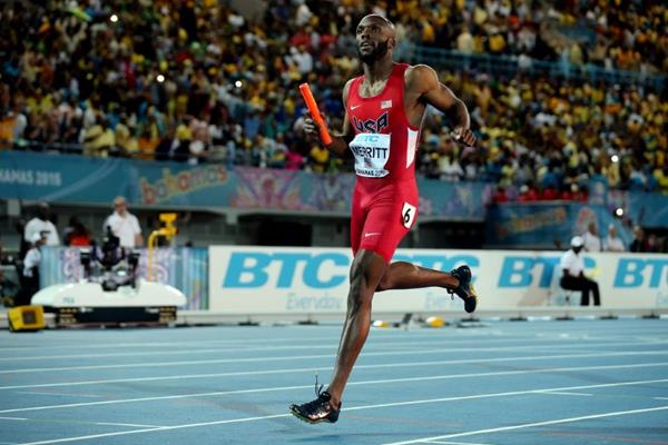 USA win the 4x400m at the IAAF/BTC World Relays, Bahamas 2015 (Getty Images)