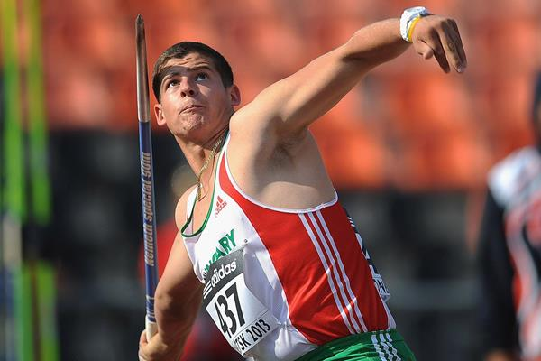 Norbert Rivasz-Toth in the boys' Javelin Throw at the IAAF World Youth Championships 2013 (Getty Images)