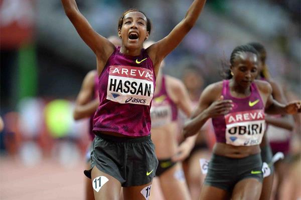 Sifan Hassan wins the 1500m at the IAAF Diamond League meeting in Paris (Jiro Mochizuki)