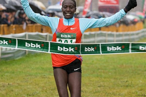 Pauline Korikwiang sprints to victory in Amorebieta (Unai Sasuategi)