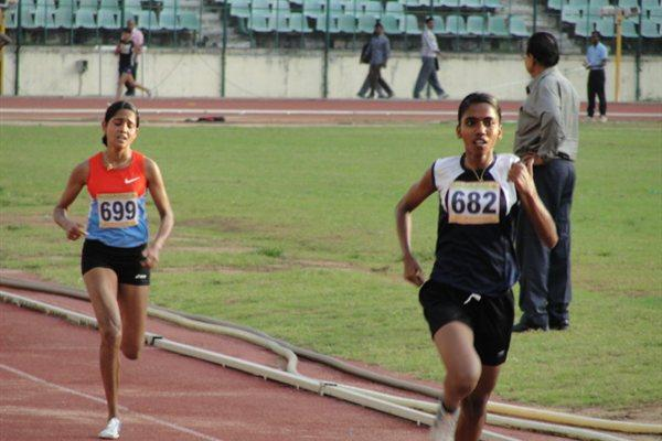Suriya Loganathan pips Asian Games champion Preeja Sreedharan in the 10,000m at the Indian Open Nationals (Anu Kumar)