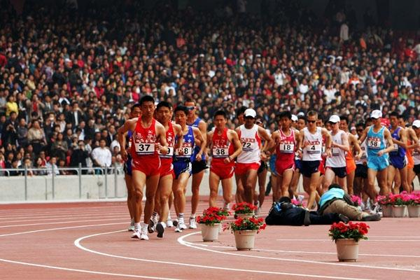 Walkers in action at the Beijing Olympic test event (Getty Images)