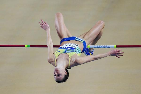 Emma Green Tregaro of Sweden competes in the Women's High Jump qualification during day one - WIC Istanbul  (Getty Images)