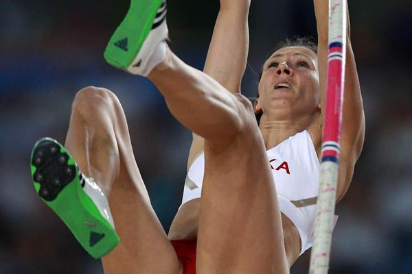 Monika Pyrek of Poland in the women's Pole Vault final (Getty Images)