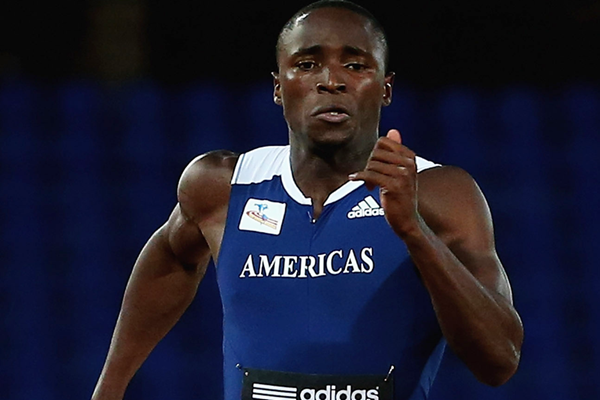 Alonso Edward on his way to winning the 200m at the IAAF Continental Cup, Marrakech 2014 (Getty Images)