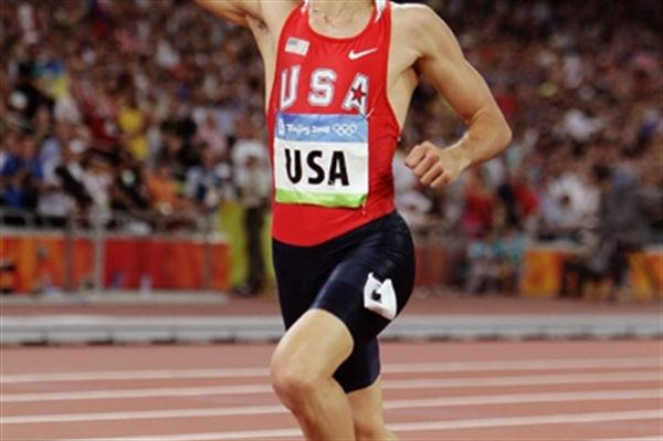 Jeremy Wariner wins his second successive Olympic 4x400m relay gold (Getty Images)