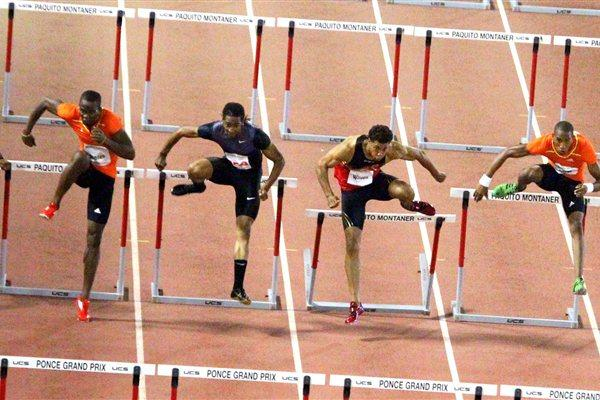 110m Hurdles race at the 6th Ponce Grand Prix, 2012 (Fernando Neris)