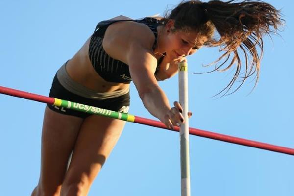 Pole vault bronze medallist Eliza McCartney at the IAAF World Junior Championships, Oregon 2014 (Getty Images)