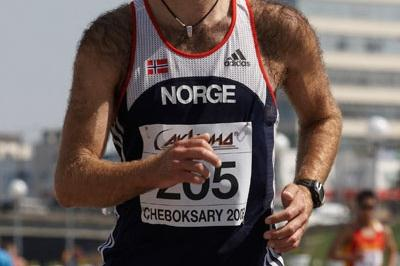Trond Nymrak from Norway on his way to 4th place in the 50km race (Getty Images)