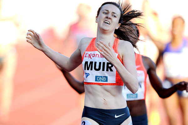 Laura Muir wins the 1500m at the IAAF Diamond League meeting in Oslo (Mark Shearman)