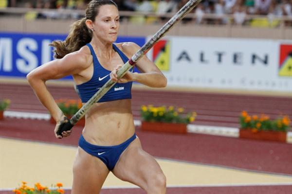 Fabiana Murer, the Monaco winner with a 4.80m leap (Philippe Fitte)
