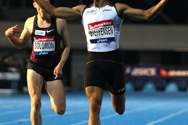 John Steffensen takes 400m at 2012 Australian Olympic Trials (Getty Images)