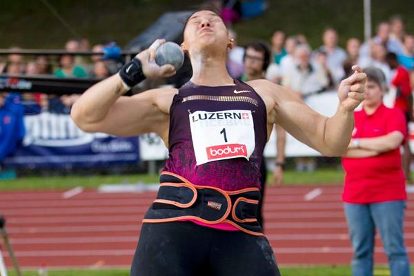 Valerie Adams, winner of the Shot in Lucerne (Organisers)