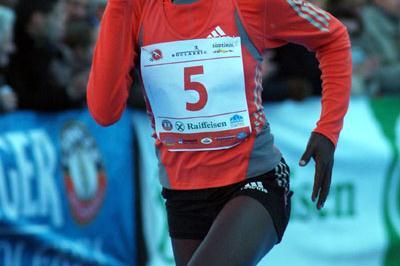 Silvia Kibet winning in Bolzano (Lorenzo Sampaolo)