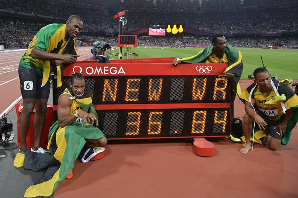 Jamaican 4x100m relay world record ()
