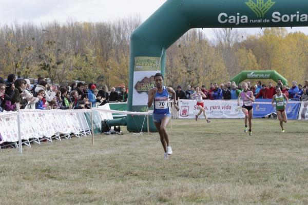 Marta Tigabea on the last lap of the 2013 Cross Internacional de Soria (Organisers)