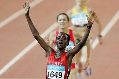 Isabella Ochichi - 5000m gold - Melbourne 2006 (Getty Images)