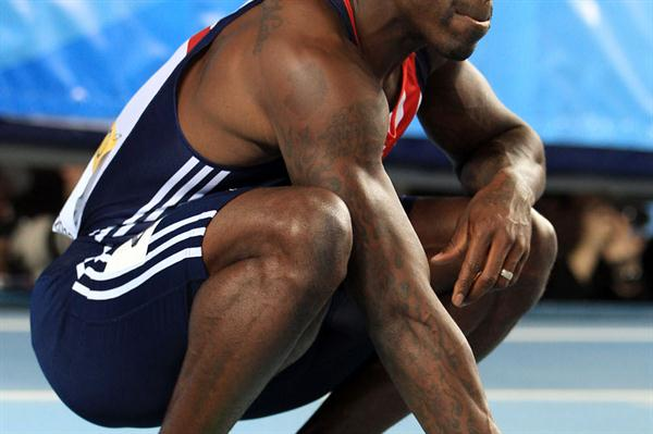 Bronze medalist Dwain Chambers of Great Britain looks on after the Men's 60 Metres Final during day two - WIC IStanbul (Getty Images)