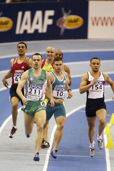 Paul McKee of Ireland winning the men's 400m semi final (Getty Images)