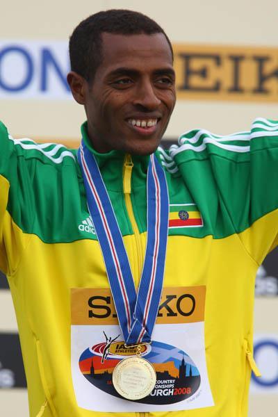 Cross Country gold No. 6 - Kenenisa Bekele in Edinburgh (Getty Images)
