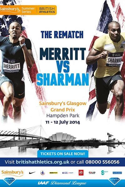 Sainsbury's Glasgow Grand Prix poster - 2014 IAAF Diamond League (organisers)