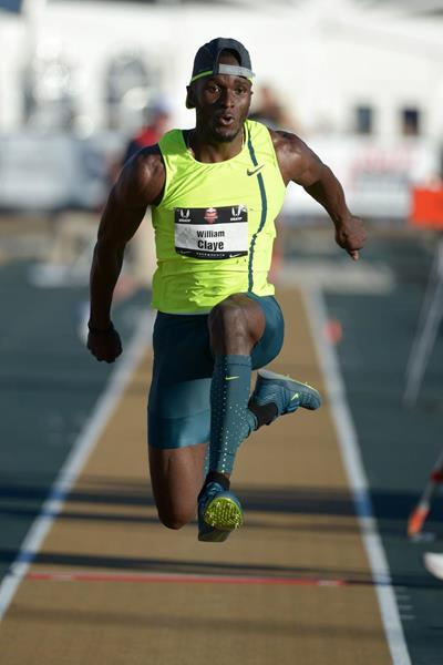 Will Claye leaps 17.75m to win the US triple jump title in Sacramento (Kirby Lee)