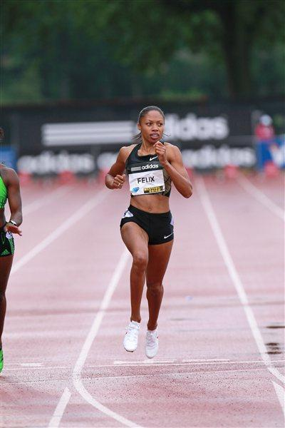 Allyson Felix takes a big win in New York (Victah Sailer)
