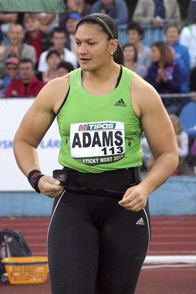 Valerie Adams in Dubnica, Slovakia (Peter Jelínek )
