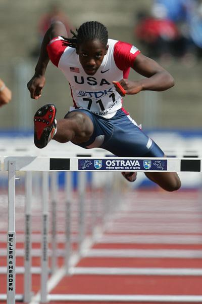Wayne Davis of USA in action in the 110m Hurdles (Getty Images)