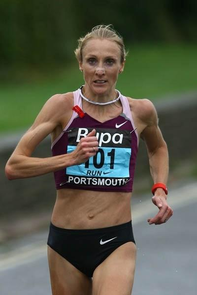 Paula Radcliffe on her way to victory at the Great South Run in 2008 (Getty Images)