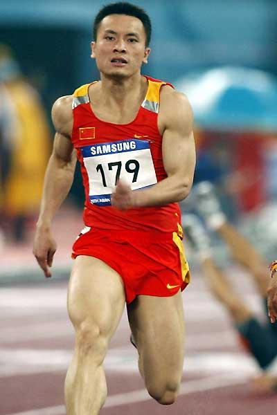 Wen Yongyi of China shown at the 15th Asian Games at Khalifa Stadium in Doha (AFP / Getty Images)