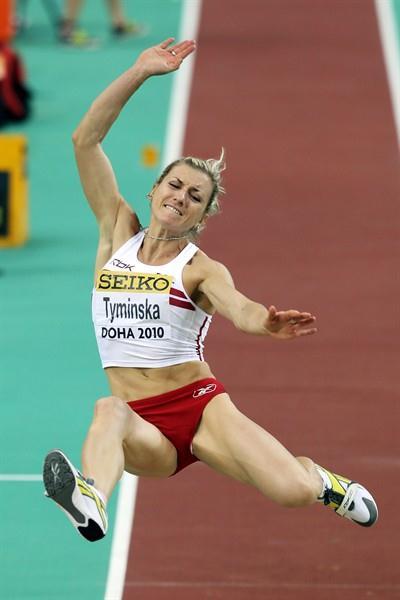 Karolina Tyminska of Poland during the Pentathlon Long Jump (Getty Images)