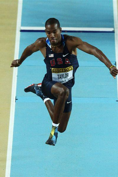 Christian Taylor of the United States competes in the Men's Triple Jump qualification during day two - WIC Istanbul (Getty Images)